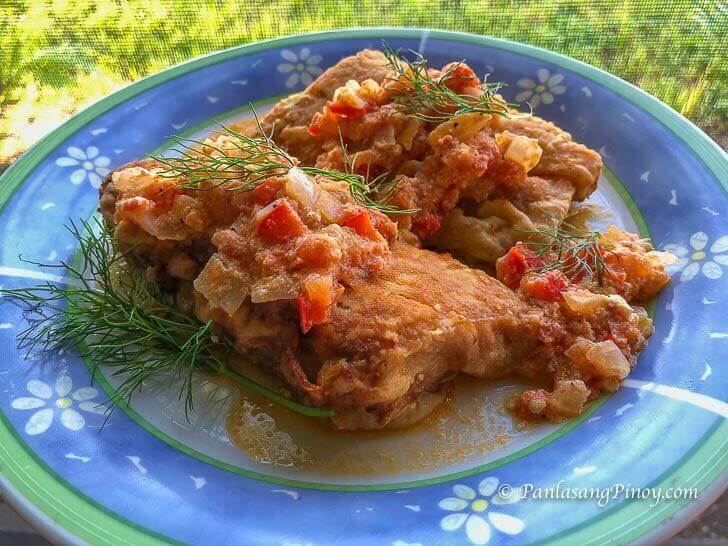 Fried Mahi Mahi Sarciado