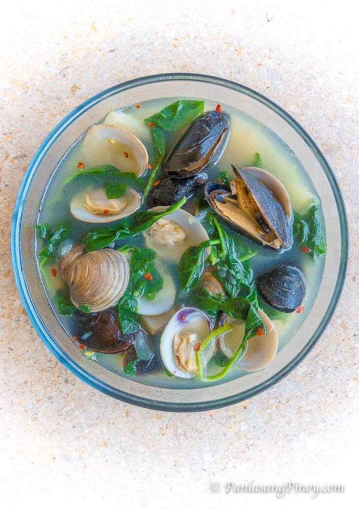 Manila Clams and Mussels Tinola Recipe Panlasang Pinoy