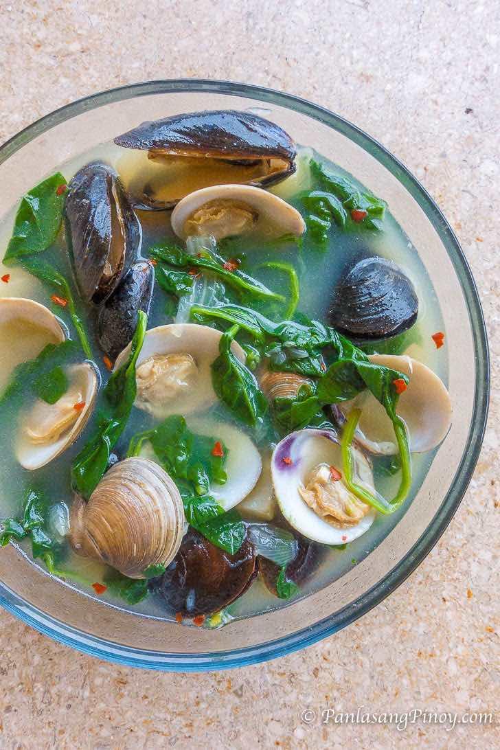 Manila Clams and Mussels Tinola Recipe
