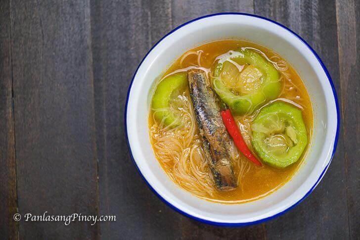 Spicy Sardinas with Miswa and Patola Recipe