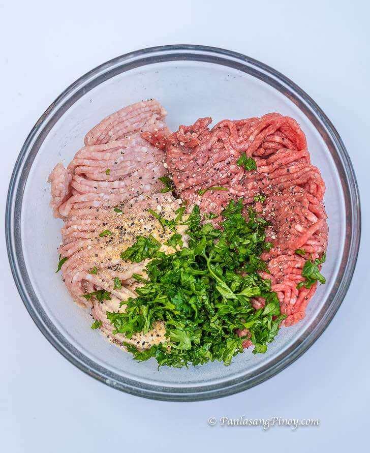 Beef and Pork Burger Mixture