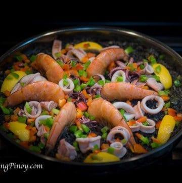 Paella Negra Arroz Negre Recipe Panlasang Pinoy