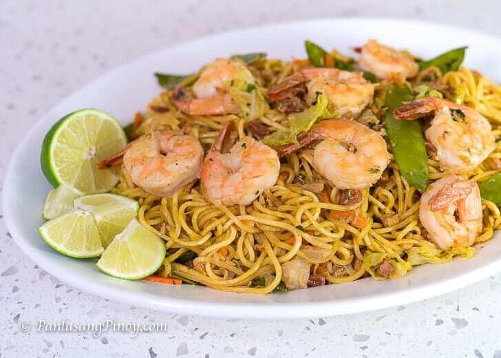 Shrimp and Chicken Pancit Canton Pinoy