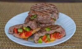 Stuffed Beef and Pork Burger Patties Recipe