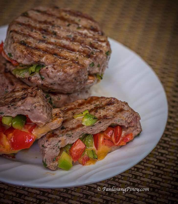 Stuffed Beef and Pork Burger Patties