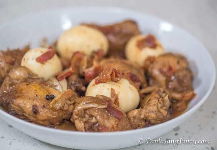 Bacon and Egg Chicken Adobo Recipe