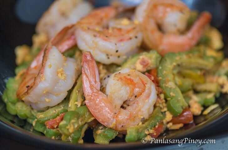 Ginisang Ampalaya na May Itlog at Hipon Recipe