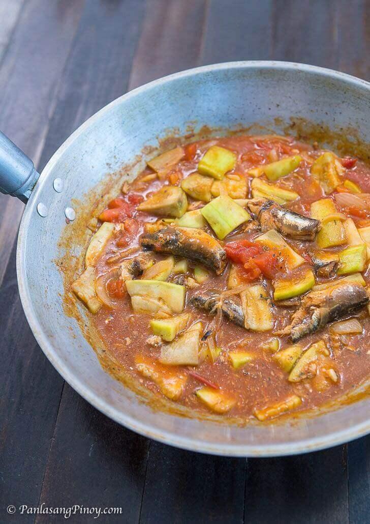 ginisang upo with sardinas recipe panlasang pinoy