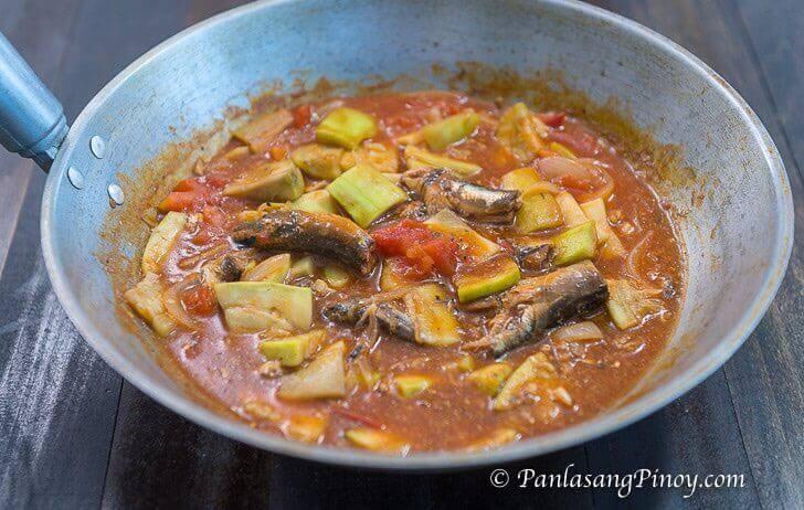 ginisang upo with sardinas recipe