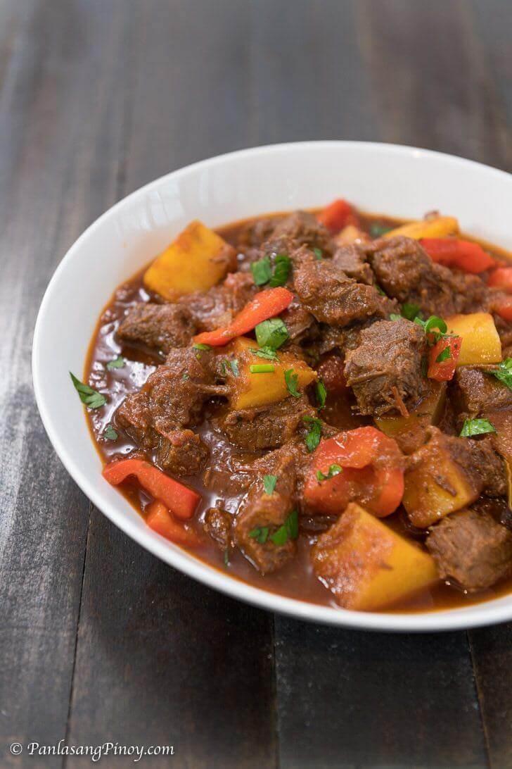 mechadong baka recipe panlasang pinoy