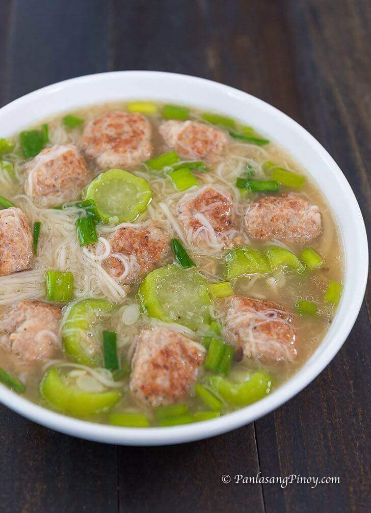 pork bola bola soup recipe panlasang pinoy