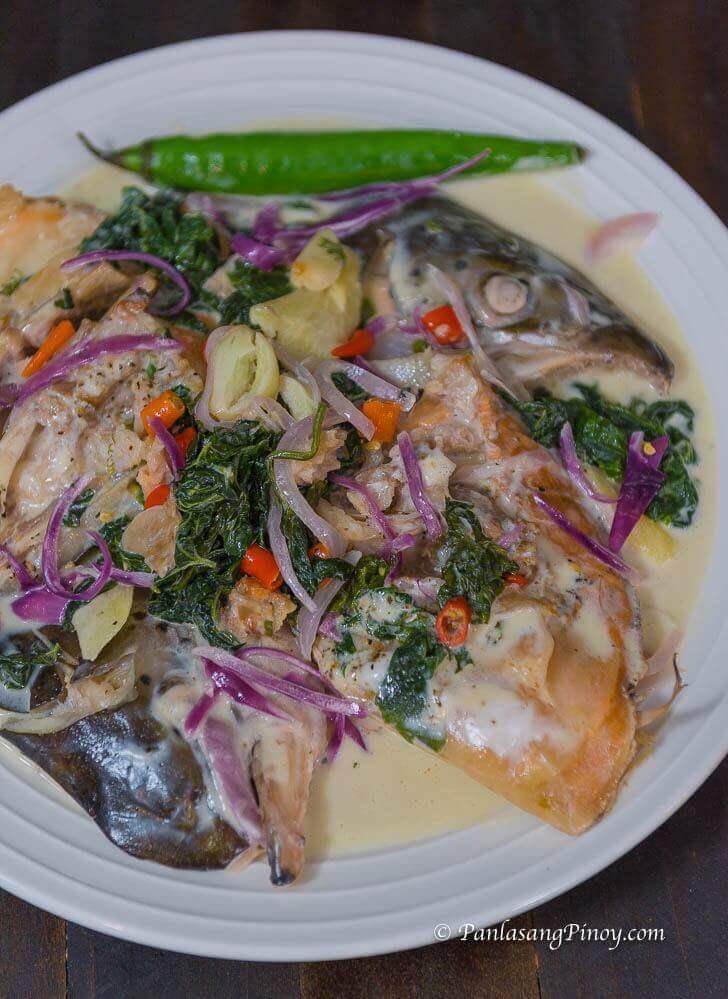 Paksiw na Salmon sa Gata Recipe