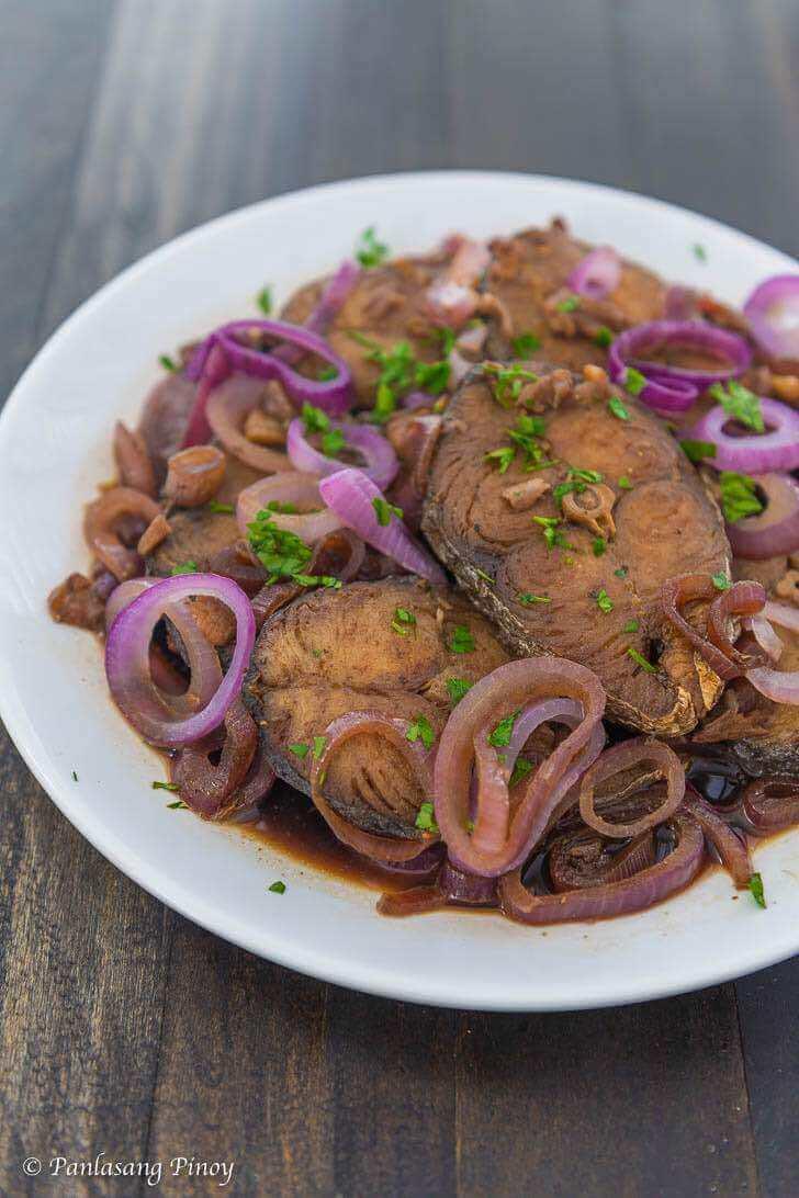 tanigue fish steak ala bistek recipe