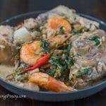 pata at hipon sa gata na may monggo at langka recipe panlasang pinoy
