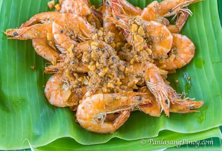 Shrimp with Butter and Taba ng Talangka Recipe