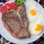 breakfast t-bone steak with eggs recipe
