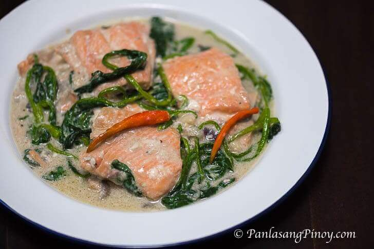 ginataang salmon filipino recipe