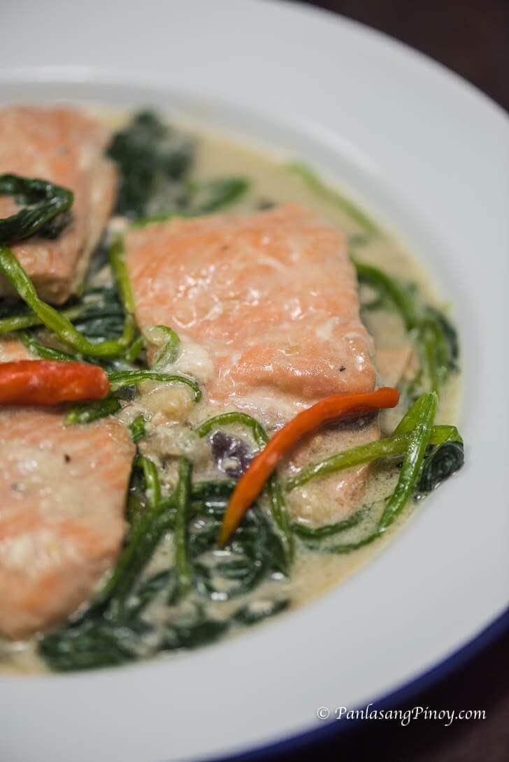 salmon sa gata recipe