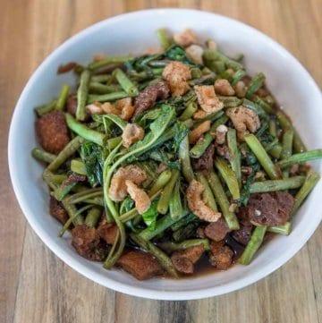 Adobong Sitaw at Kangkong recipe