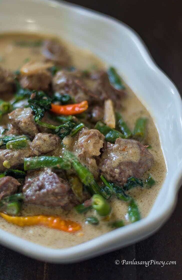 ginataang baka with green beans recipe