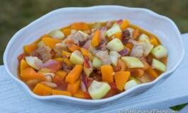 Ginisang Upo at Kalabasa - Sauteed Opo and Butternut Squash