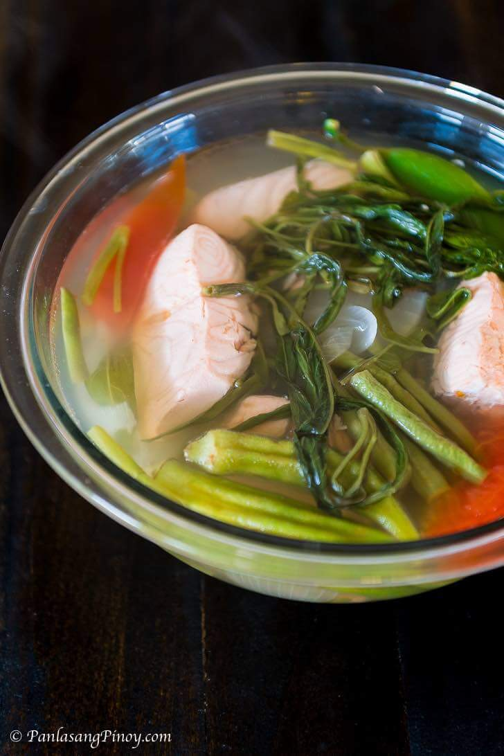 salmon sinigang recipe panlasang pinoy