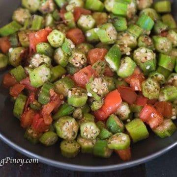 seared okra and tomato