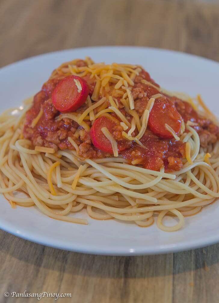 easy pinoy spaghetti christmas