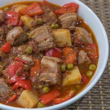 spicy pork kaldereta