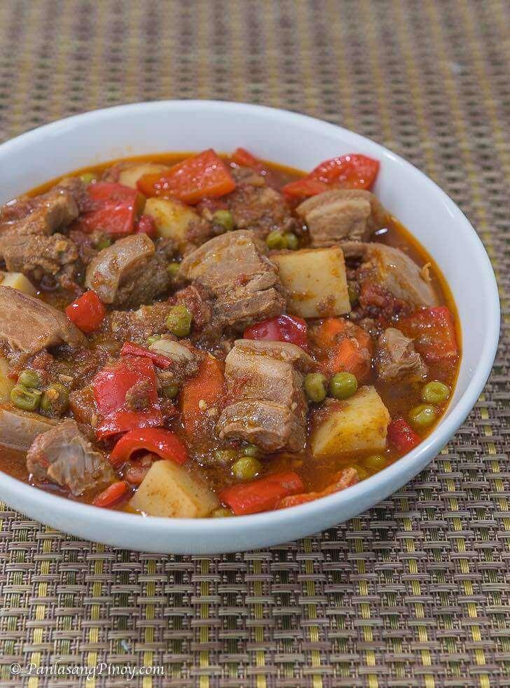 spicy pork kaldereta recipe