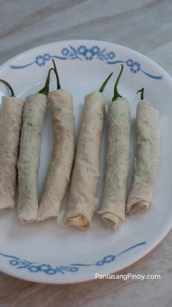 Wrap Lumpia in Flour Wrapper