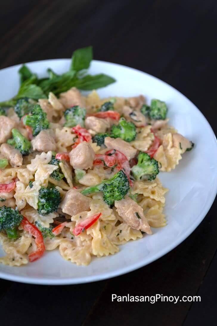 Chicken Pasta with Creamy Basil Sauce Recipe