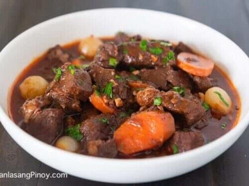Red Wine Beef Stew Panlasang Pinoy