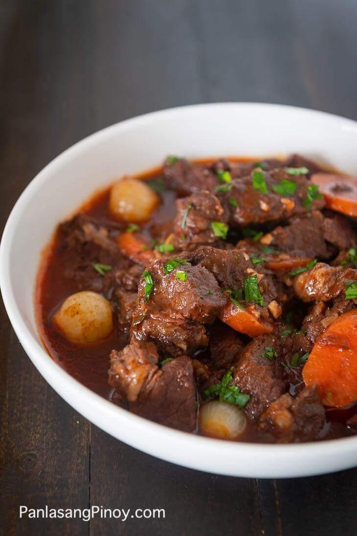 Red Wine Beef Stew Recipe