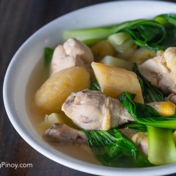 Nilagang Manok Boiled Chicken