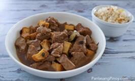 Pork Adobo with Tokwa and Tausi and Garlic Fried Rice Adobo
