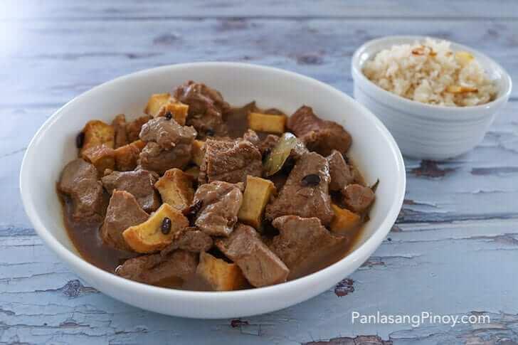 Pork Adobo with  Tokwa and Tausi and Garlic Fried Rice Adobo Meal