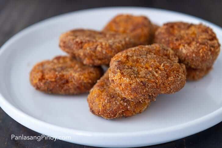 kalabasa and corned beef nuggets recipe