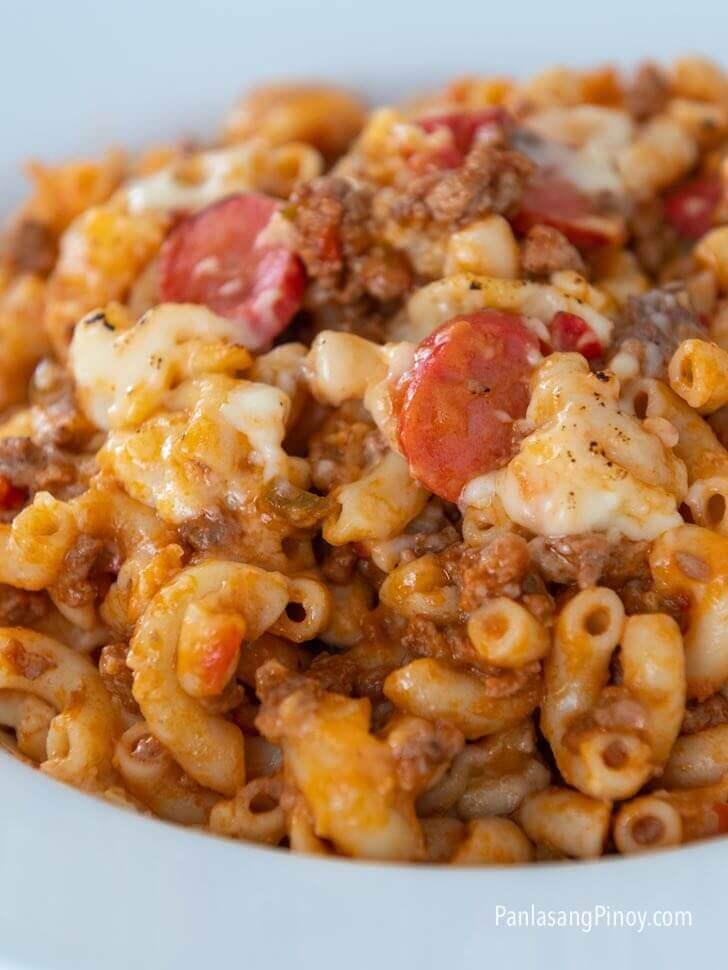 Filipino style baked macaroni recipe