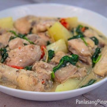 Ginataang Manok with Papaya Recipe