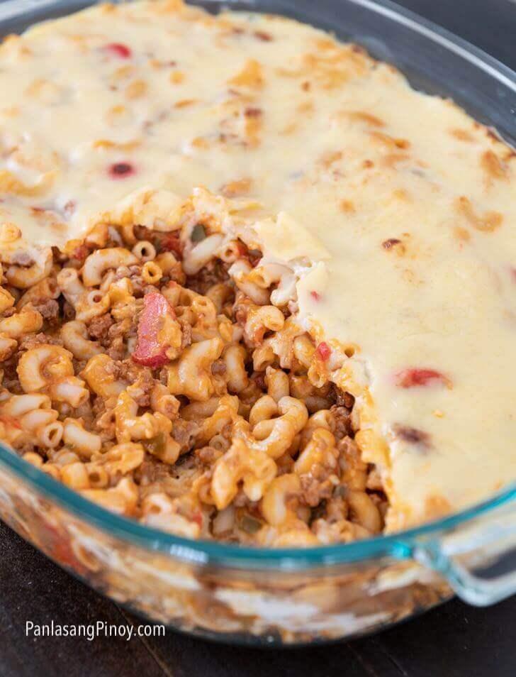 pinoy style baked macaroni recipe
