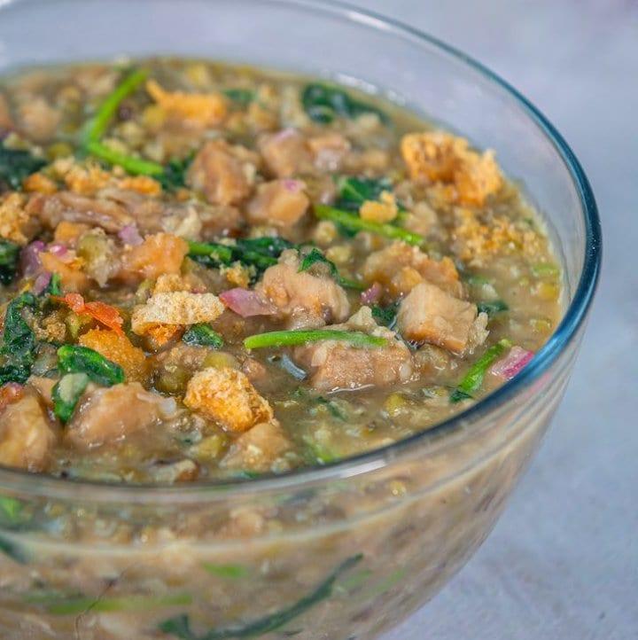 pork munggo with kangkong recipe
