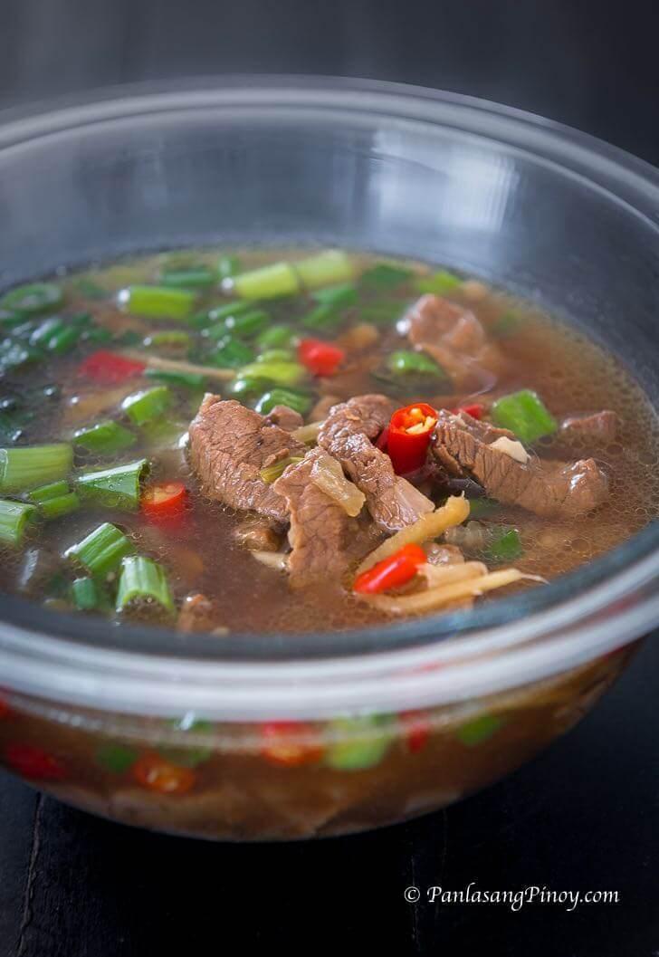 beef hinalang recipe