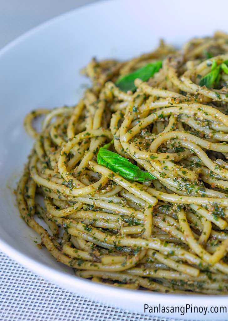 tuyo pesto spaghetti pasta recipe