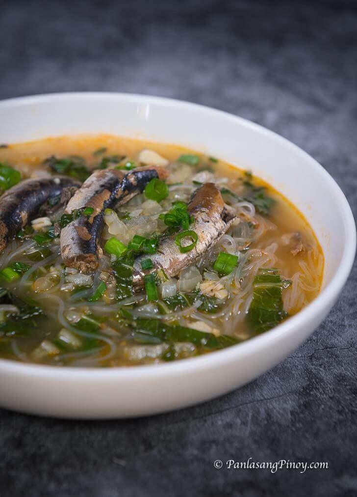 Sardines with Sotanghon and Pechay Recipe
