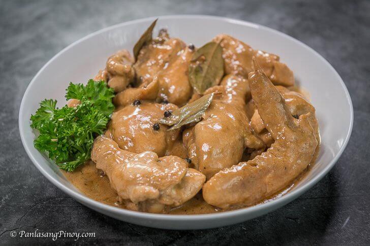 Adobong Manok sa gata recipe