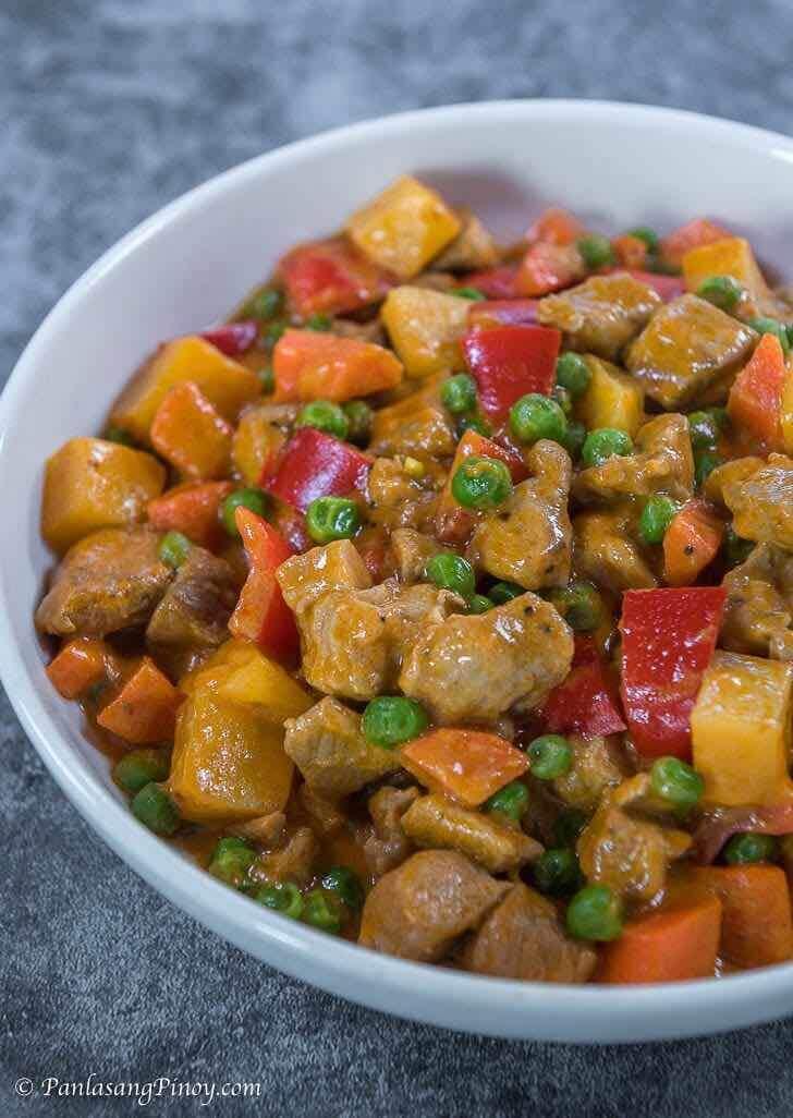 Pork Menudo sa Gata Recipe