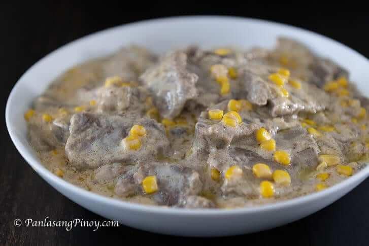 Creamy Lengua with Corn Recipe