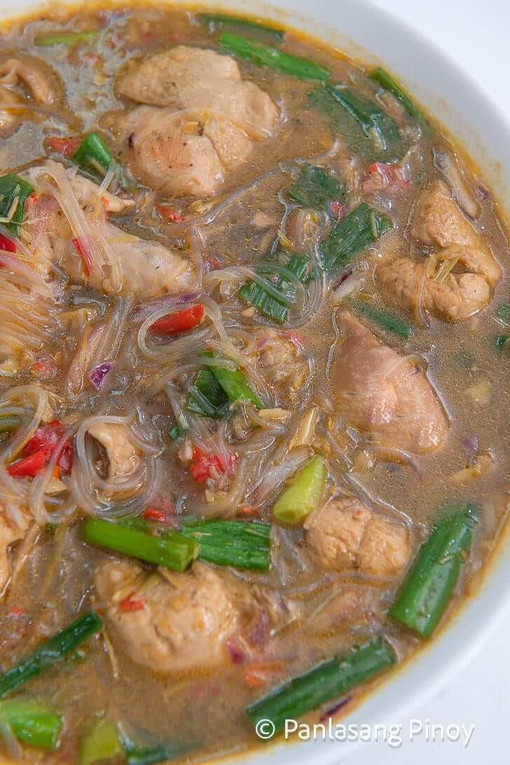 spiciest sotanghon chicken soup_
