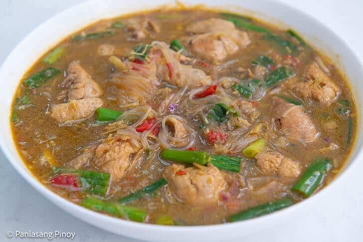 spicy sotanghon chicken soup recipe